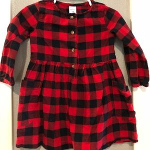 Carters Buffalo Plaid Dress